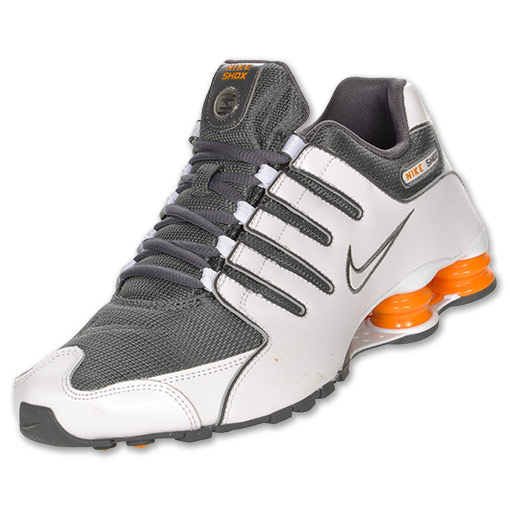 best website 5acbc ec746 grey and orange nike shox
